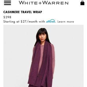 Cashmere Travel Wrap White + Warren